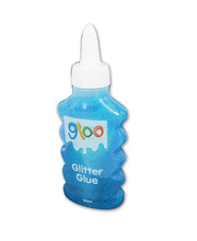 *Gloo Glitter Glue 120ml Bottle - Blue