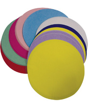 Circle Tissue Paper Assorted Colours - Large 180mm 480pk