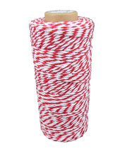 Bakers Twine 80m Roll - Red & White