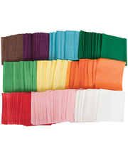 Square Tissue Paper Assorted Colours - Small 100mm 4600pk