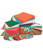 Classroom Tissue Paper 1000pk - Assorted Shapes and Colours