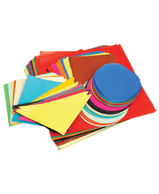 Kinder Squares/Circles/Triangles Paper - Classpack of 400