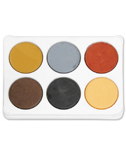 Poster Colours Paint Blocks Thick Set - Earth (includes Palette) 6pk