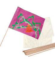 Calico Flags & Dowel Flag Pole Set - 30pk