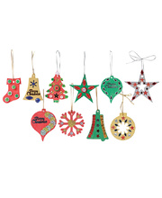 >Paper Mache Christmas Decorations - Assorted 80pk
