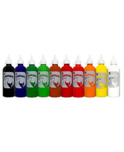#Educational Colours Liquicryl Paint - 500ml Set of 10 assorted colours