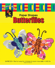 *SPECIAL: EC Paper Fun Shapes 24pk - Butterflies 130 x 150mm