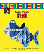 *SPECIAL: EC Paper Fun Shapes 24pk - Fish 225 x 200mm