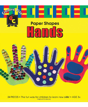 EC Paper Fun Shapes 24pk - Hands 140 x 130mm