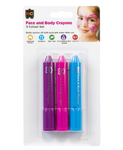 EC Face & Body Crayons - Bright Colours Set of 3