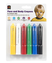 EC Face & Body Crayons - Basic Colours Set of 6