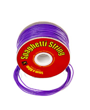 Plastic Line Thin 1mm Spaghetti String - Purple - 60m