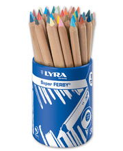 Lyra Super Ferby Triangular Colour Pencils - 36pk Tub