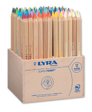 Lyra Super Ferby Triangular Colour Pencils - 96pk Crate