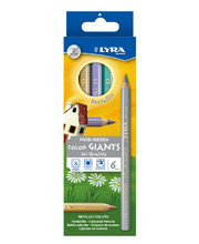 *Lyra Colour Giant Pencils - Metallic 6pk
