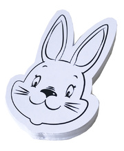 >Die Cut Head Paper Shapes 24pk - Bunny