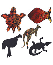 Scratch Paper Shapes - Australian Animals 30pk