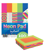 *Neon Coloured Paper Pad 228 x 304mm - 100gsm 100 sheets