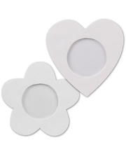 >Clay Photo Frames 10pk - Heart & Flower