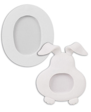 *>Clay Photo Frames 10pk - Rabbit & Eggs
