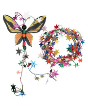 >Star Garland - Multi Coloured 2.7m