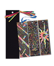 Scratch Paper Shapes - Bookmarks 12pk