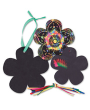 Scratch Paper Shapes - Flowers 12pk