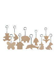 Wooden Key Rings - 10 Shapes