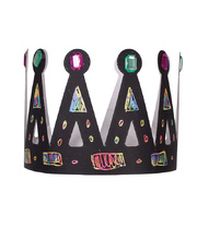 Scratch Paper Shapes - Crowns 8pk