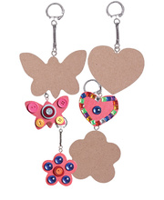 Wooden Key Rings - Mother's Day 10 Shapes