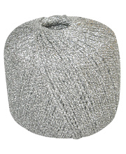 Metallic Yarn Ball 100m - Silver