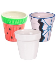 Porcelain/Ceramic - Flower Pots 4pk