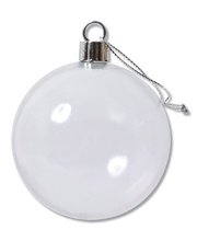 >Plastic Bauble Clear - 10pk