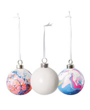 >Ceramic Baubles - 10pk
