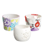 Porcelain/Ceramic - Tea Light Holders 3pk