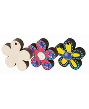 Wooden Shapes - Flowers 12pk