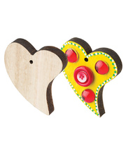 Wooden Shapes - Hearts 12pk