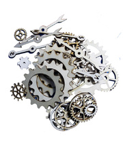 Assorted Wooden Gears & Cogs - 100pk