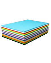 Cover Paper 125gsm A4 210x 297mm - Assorted Colours 500pk x 4
