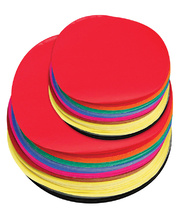 Kinder Circles Large 180mm - Matt Assorted 500pk