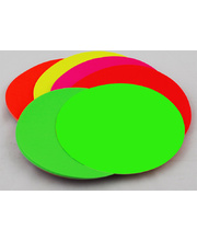 Kinder Circles Large 180mm - Fluoro Assorted 100pk