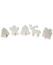 *SPECIAL: >Christmas 3D Wooden Shapes - 10pk
