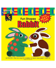 EC Paper Fun Shapes 24pk - Rabbit 150 x 150mm
