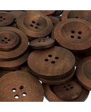 Wooden Buttons Assorted - 50pcs