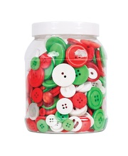 >Basic Bulk Buttons 600g - Christmas Colours