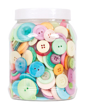 >Basic Bulk Buttons 600g - Pastel Colours