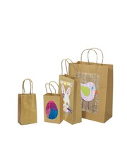 Brown Kraft Paper Bags with Gusset - Small 50pk
