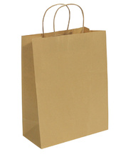 #Brown Kraft Paper Bags with Gusset - Large