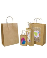 Brown Kraft Paper Bags with Gusset - Large 50pk