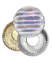 Mini Metallic Paper Plates - 95mm 60pk